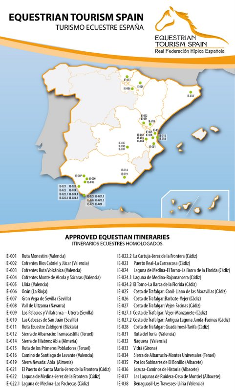 Mapa Equestrian Tourism Spain