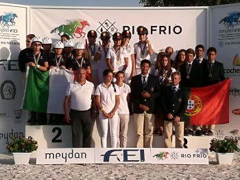 Oros en el europeo de Raid Junior 2016