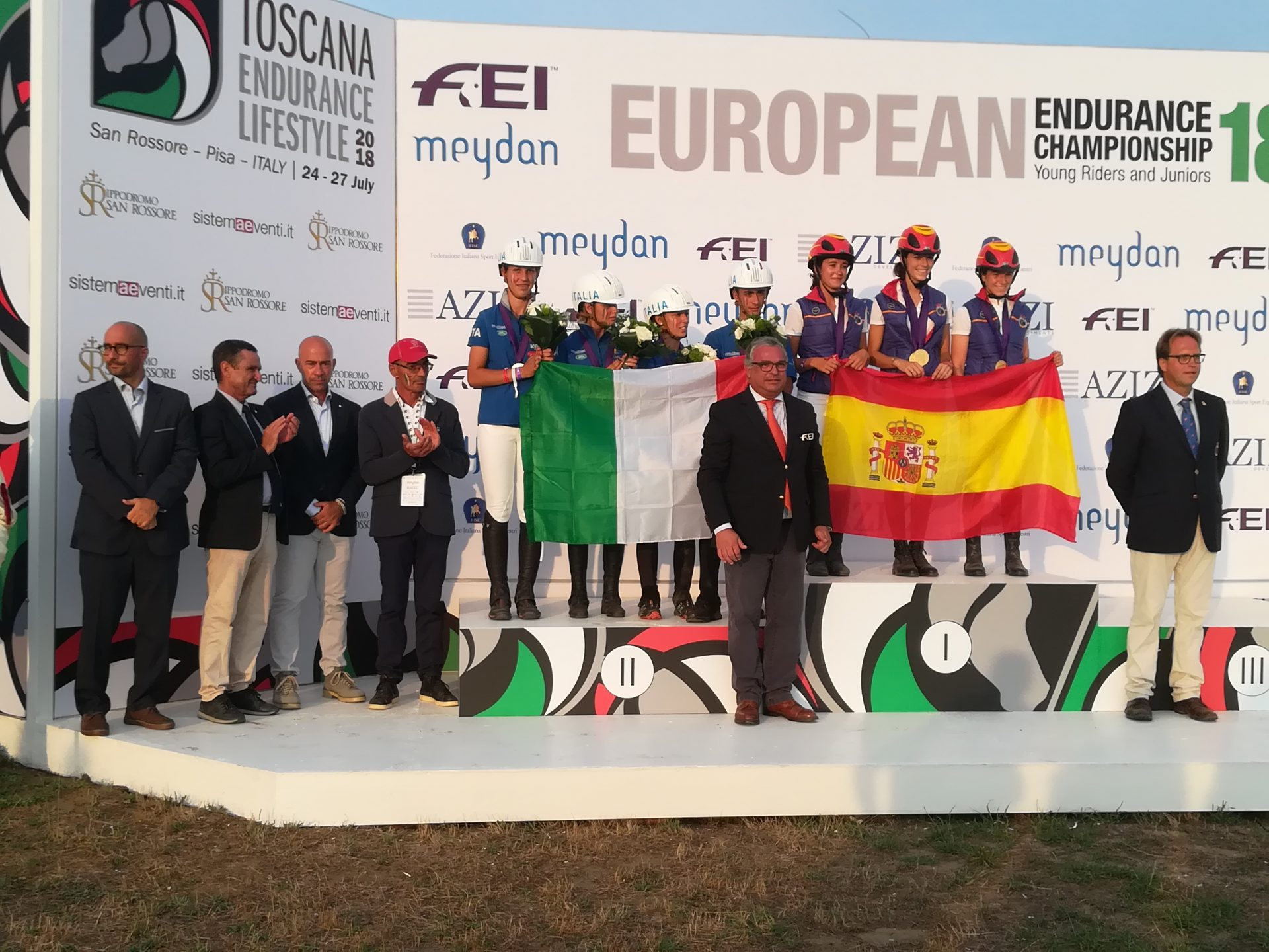 Raid Cto Europa Junior 2018 Podium_ Spain - Italy