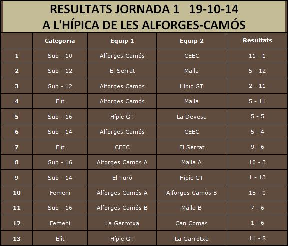 Resultats Lliga J1