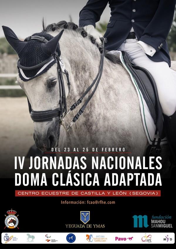 IV Jornadas Nacionales de Doma Clásica Adaptada, Centro Ecuestre de Castilla y León, 23-25 feb