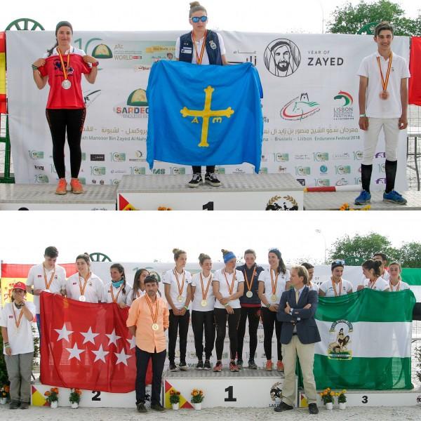 Naiara Fernández, Campeona Jr&JJ 2018 de Raid. Cataluña campeona por equipos