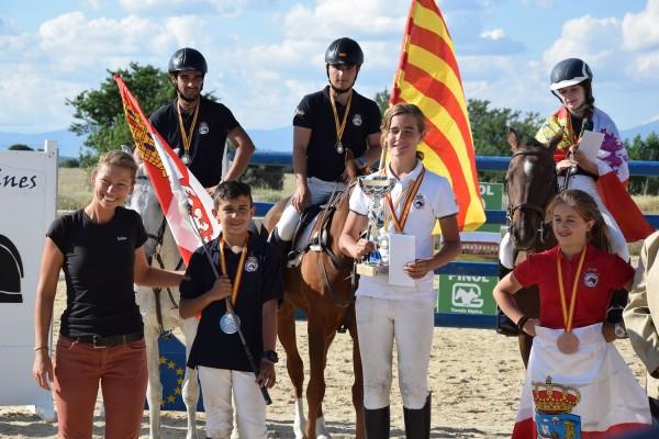 Agustín y Joaquin Fernandez, Campeones de España de TREC 2018 adultos y juveniles